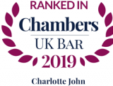 Ranked in Chambers UK Bar 2019: Charlotte John
