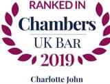 Ranked in Chambers UK Bar 2019: Charlotte John