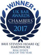 Brie Stevens Hoare QC winner UKBar 2017
