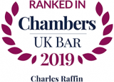 Ranked in Chambers UK Bar 2019: Charles Raffin