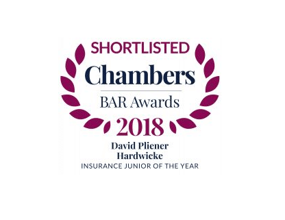 David Pliener shortlisted for Chambers Bar Award 2018