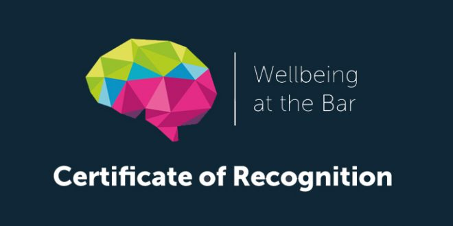 Hardwicke receives wellbeing certificate of recognition