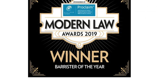 Brie Stevens-Hoare QC wins Barrister of the Year Award at the Modern Law Awards 2019
