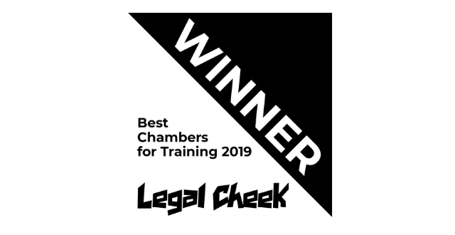 Hardwicke wins Best Chambers for Training at the Legal Cheek Awards 2019