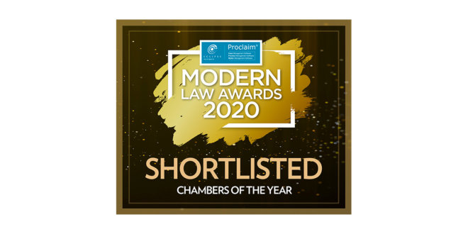 Hardwicke shortlisted for Chambers of the Year at the Modern Law Awards 2020
