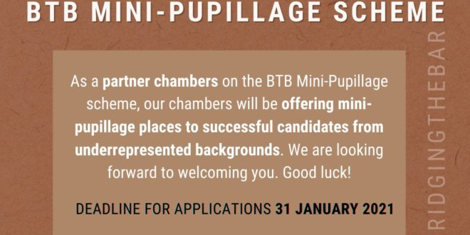 Hardwicke offering places on the Bridging the Bar Mini-Pupillage Scheme