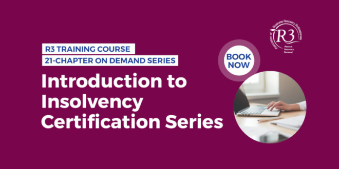 Oliver Hyams leads session for the R3 Association of Business Recovery Professionals Training Academy's Introduction to Insolvency Certification Series