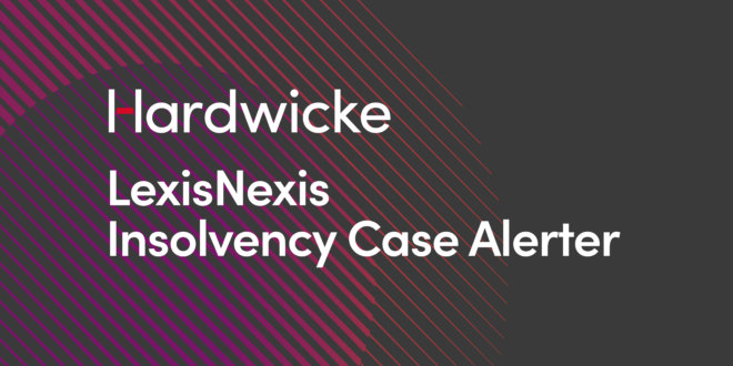 Insolvency Team – Recent Insolvency Case Update